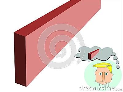 Δυναμικός και αντιδραστικός κόκκινος τοίχος ελεύθερη απεικόνιση δικαιώματος