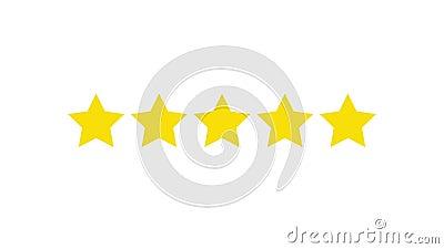 Δόσιμο των αστεριών εκτίμησης Ταξινόμηση της επιχείρησης με τα χρυσά αστέρια fave διανυσματική απεικόνιση