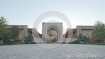 Είσοδος τζαμιού Κεντρικής Ασίας απόθεμα βίντεο