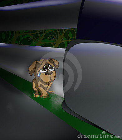 εγκαταλειμμένο σκυλί