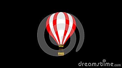 Εικονίδιο 'Περιπέτεια με αερόστατο' Γραμμή σχεδίασης Κινούμενη εικόνα Διαφανής κίνηση διανύσματος Βρόχος γραφικών απόθεμα βίντεο