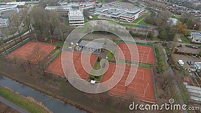 Εναέρια άποψη γηπέδων αντισφαίρισης, Zwijndrecht, Κάτω Χώρες φιλμ μικρού μήκους