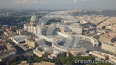 Εναέρια άποψη της πόλης του Βατικανού απόθεμα βίντεο