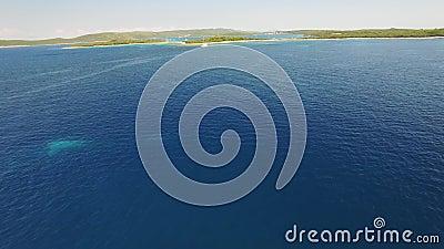Εναέρια άποψη του Veli Rat στο αδριατικό νησί Dugi Otok απόθεμα βίντεο