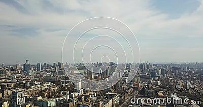 Εναέρια πόλη και ο εθνικός αθλητισμός σύνθετο ` ολυμπιακό ` άποψης landscape urban απόθεμα βίντεο