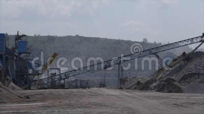 Εξαγωγή αμμοχάλικου στο ρωσικό λατομείο απόθεμα βίντεο
