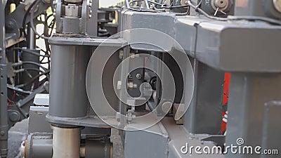 Εξοπλισμός για τον καθαρισμό οδών και οδών Κίνηση του τμήματος λεπίδων στη θέση εργασίας φιλμ μικρού μήκους