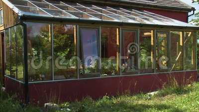 Εξωτερικό του Sun Room Patio απόθεμα βίντεο