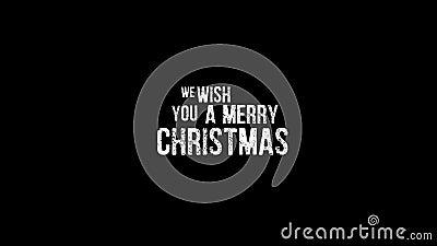 Επιθυμούμε ότι είμαστε βίντεο Χαρούμενα Χριστούγεννας ελεύθερη απεικόνιση δικαιώματος