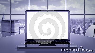 Επιχειρησιακή παρουσίαση lap-top απόθεμα βίντεο