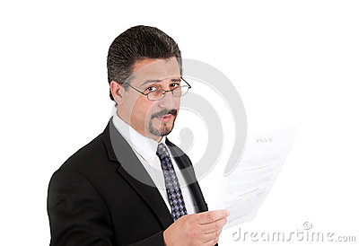 Επιχειρησιακό άτομο με τα γυαλιά