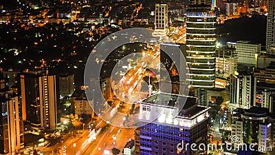 Εσπευσμένος υψηλός καθορισμός χρονικού σφάλματος πόλεων της Ιστανμπούλ 4K εξαιρετικά απόθεμα βίντεο