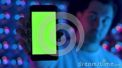 Εφαρμογή διαφήμισης παρουσίασης έξυπνων τηλεφώνων με πράσινη οθόνη φιλμ μικρού μήκους