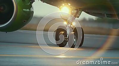 Ζεστός αέρας πίσω από τη μηχανή αεροσκαφών απόθεμα βίντεο