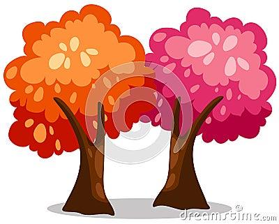 ζωηρόχρωμα δέντρα