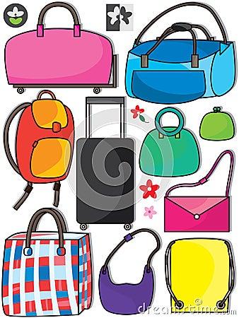 Ζωηρόχρωμες τσάντες Set_eps