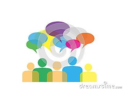 Ζωηρόχρωμη κοινωνική έννοια δικτύων