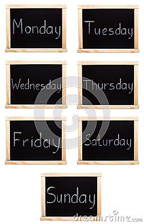 Ημέρες της εβδομάδας