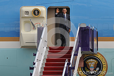 ΗΠΑ Πρόεδρος Barack Obama Εκδοτική Στοκ Εικόνα