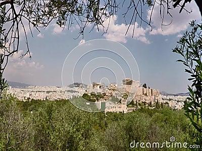 Η ακρόπολη στην Αθήνα Ελλάδα, απόθεμα βίντεο