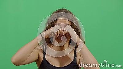 Η γυναίκα με τα σκληρά μάτια απόθεμα βίντεο