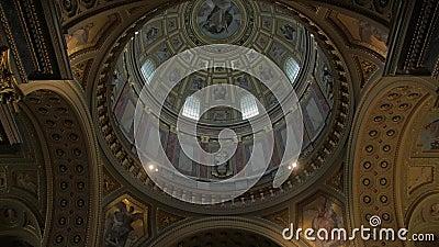 Θόλος Του Καθολικού Ναού απόθεμα βίντεο