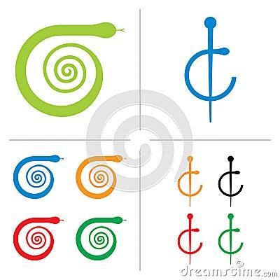 ιατρικό διάνυσμα λογότυπ&om
