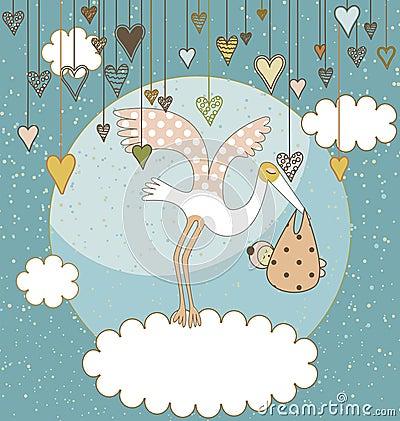 κάρτα μωρών άφιξης ανακοίνω&sigma