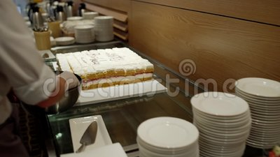 Κέικ με το σταφύλι και άλλα φρούτα απόθεμα βίντεο