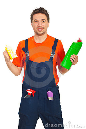 καθαρίζοντας εργαζόμεν&omi