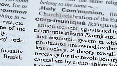 Καθορισμός κομμουνισμού που δείχνεται στο λεξιλόγιο, πολιτικός και το οικονομικό σύστημα, κράτος φιλμ μικρού μήκους