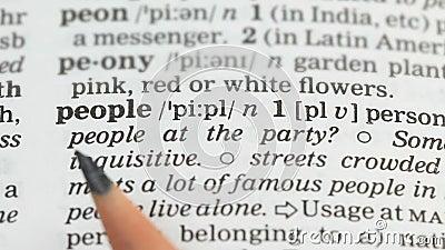 Καθορισμός λέξης ανθρώπων στο αγγλικό λεξικό, πληθυσμός χωρών, δημοκρατία φιλμ μικρού μήκους