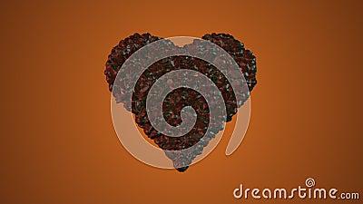 Καρδιά καφέ απόθεμα βίντεο