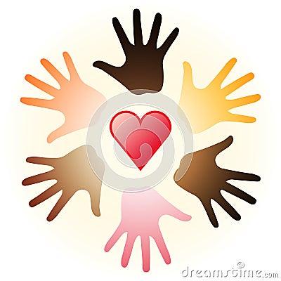 καρδιά χεριών