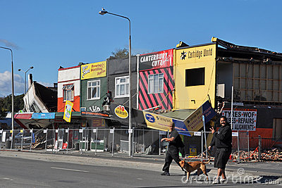 καταστήματα σεισμού λε&omega Εκδοτική Στοκ Εικόνες