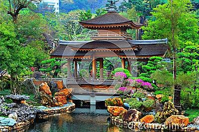 κινεζική παγόδα κήπων zen