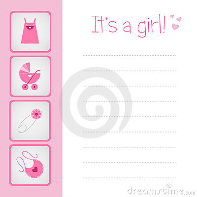 κορίτσι καρτών μωρών άφιξης