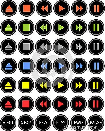 κουμπιά που χρωματίζονται