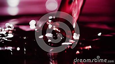 Κρασί Pour_002 απόθεμα βίντεο