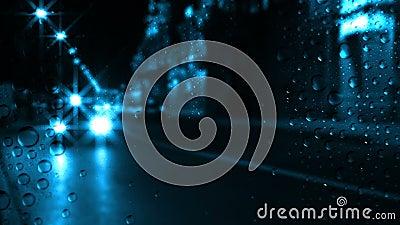 Κυκλοφορία και βροχή νύχτας απόθεμα βίντεο