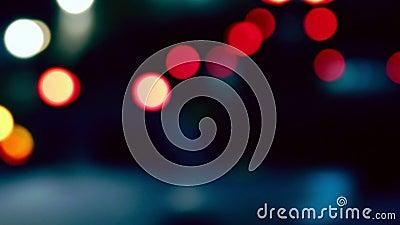 Κυκλοφορία κατόχων διαρκούς εισιτήριου De-στραμμένος νύχτα πυροβολισμός Colorized, εκλεκτής ποιότητας ώρα κυκλοφοριακής αιχμής τό απόθεμα βίντεο