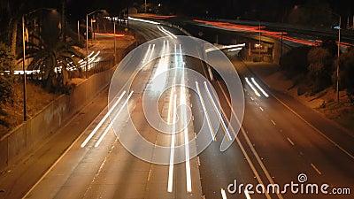 Κυκλοφορία πόλεων Λα τη νύχτα - Timelapse