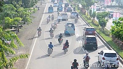 Κυκλοφορία Makassar, Ινδονησία απόθεμα βίντεο