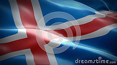 Κυματίζοντας σημαία της Ισλανδίας Εθνικός τρισδιάστατος ισλανδικός κυματισμός σημαιών Σημάδι της άνευ ραφής ζωτικότητας βρόχων τη διανυσματική απεικόνιση
