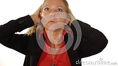 Κυρία στο πρόβλημα απόθεμα βίντεο
