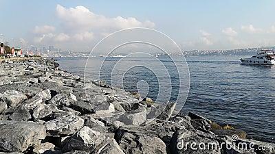 Κωνσταντινούπολη, Τουρκία - 29 Οκτωβρίου 2019: Πανόραμα της Θάλασσας του Μαρμαρά στην Κωνσταντινούπολη - 17 φιλμ μικρού μήκους