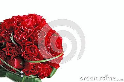 κόκκινος γάμος ανθοδεσμών