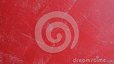 Κόκκινος συμπαγής τοίχος - αφηρημένο υπόβαθρο, σχέδιο του εσωτερικού απόθεμα βίντεο