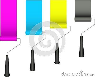 κύλινδροι χρωμάτων