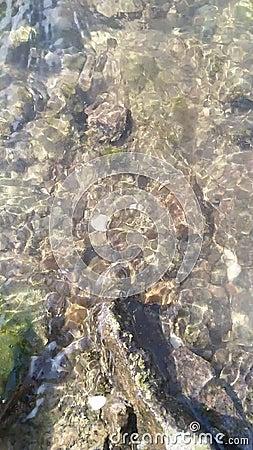 Κύματα σπάνε πάνω από πέτρα Νερό που πλημμυρίζει από κύματα φιλμ μικρού μήκους